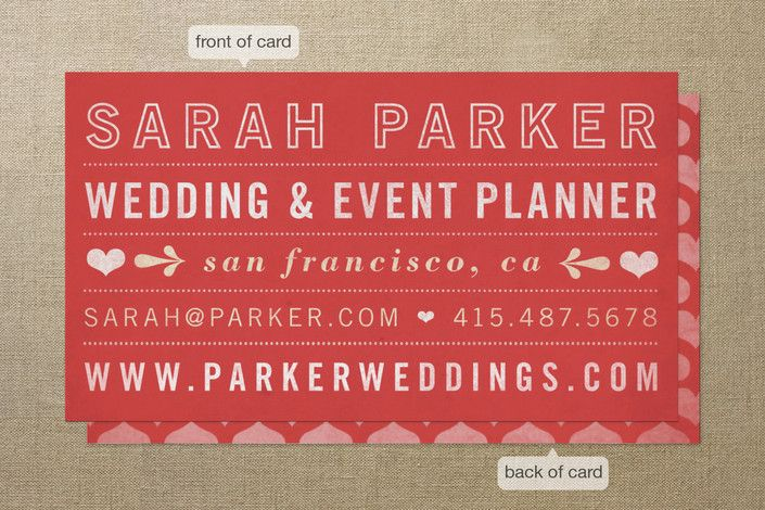 Hearts Business Cards by Jess Taich at minted.com
