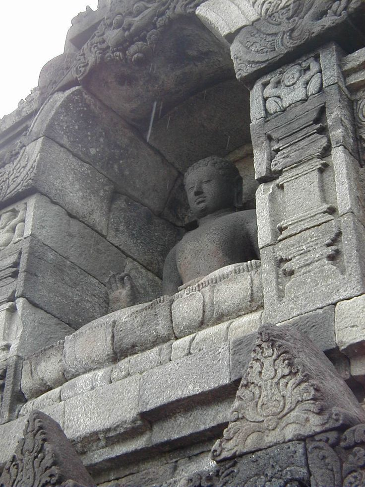 Borobudur - a 9th-century Mahayana Buddhist Temple - Built in the 9th century -  Central Java, Indonesia - Mahāyāna Buddhism -  one of the three main existing branches of Buddhism