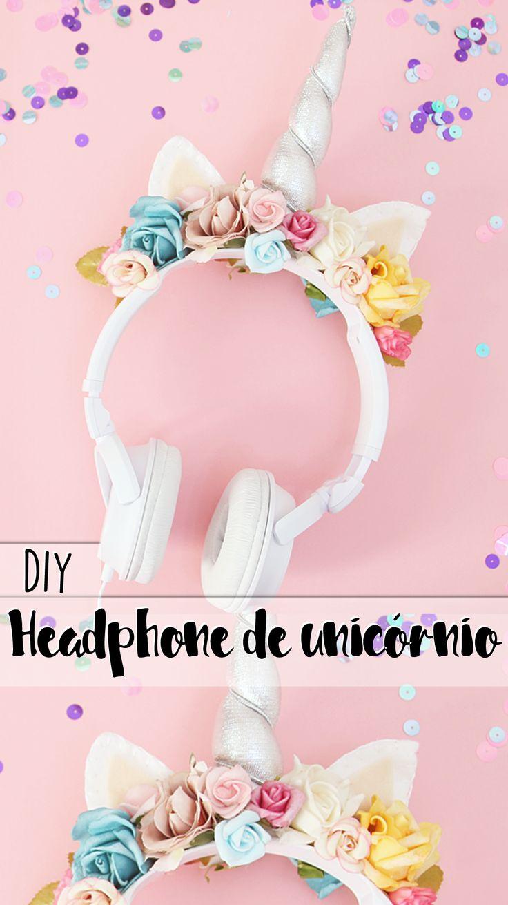 DIY | Como transformar seu headphone em um phonecórnio! ♥ Fone de unicório