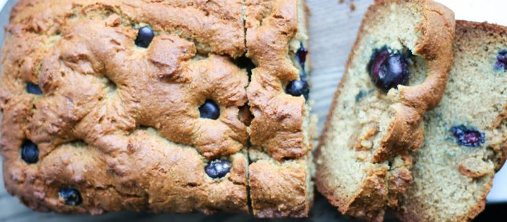 Almond Butter Blueberry Loaf