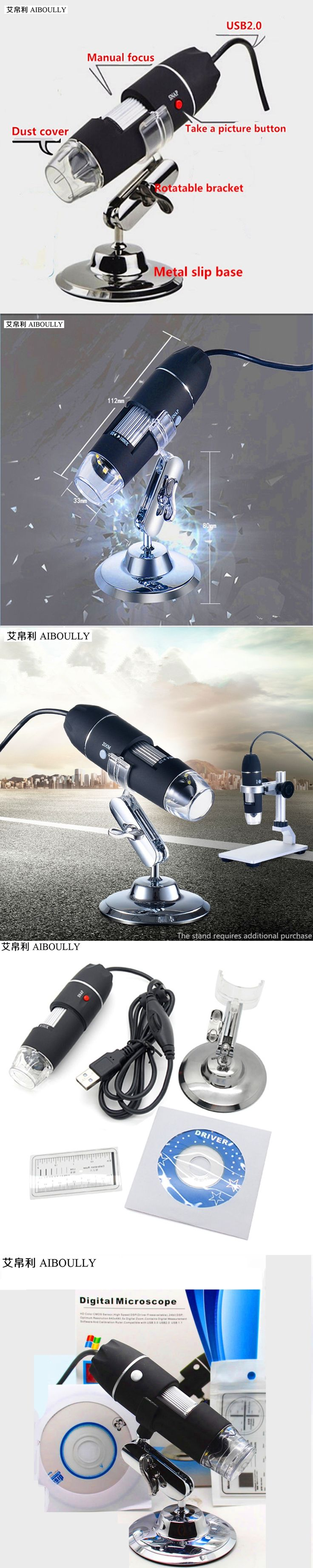 Electronic USB microscope with LED lights 1000X times maintenance diagnosis magnifying glass mobile phone maintenance equipment