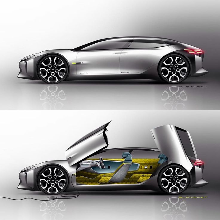 Citroen CXperience official sketches by Gregory Blanchet #cardesign #carsketch…