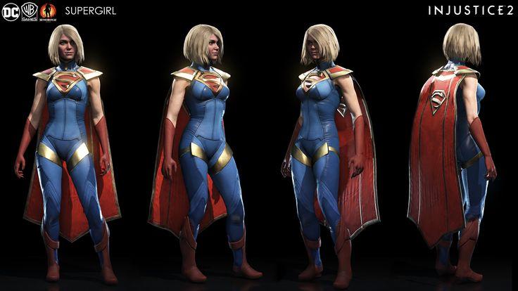 ArtStation - Supergirl - Injustice 2 , Brendan George