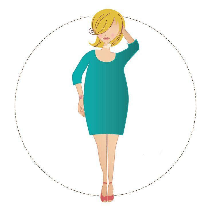 Miss O  Bij de miss O zit het gewicht 'in the middle': rond de borsten, buik en billen. Als miss O heb je veelal brede schouders, flinke borsten en slanke benen. Veel vrouwen worden een appel als ze in de overgang zijn of wat ouder worden.De patronen voor Miss O hebben extra ruimte rond de taille. Tevens proberen we de aandacht te verleggen naar de hals en de slanke benen, omdat deze gezien mogen worden.