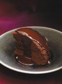 Gâteau au chocolat, sauce moka