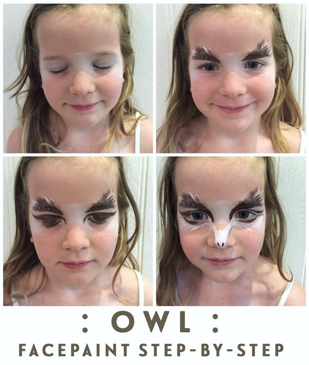 Owl face paint step by step | Growing Spaces