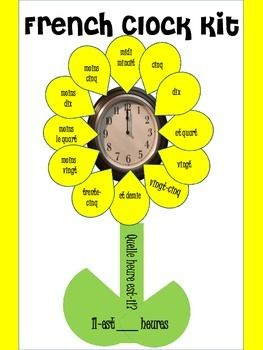 French clock printable for the classroom!