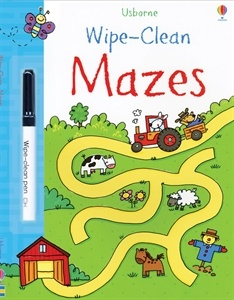 FINE MOTOR-This delightful book is full of fun mazes-a perfect way for little children to learn pen control. Usborne Books & More. Wipe-Clean Mazes $7.99