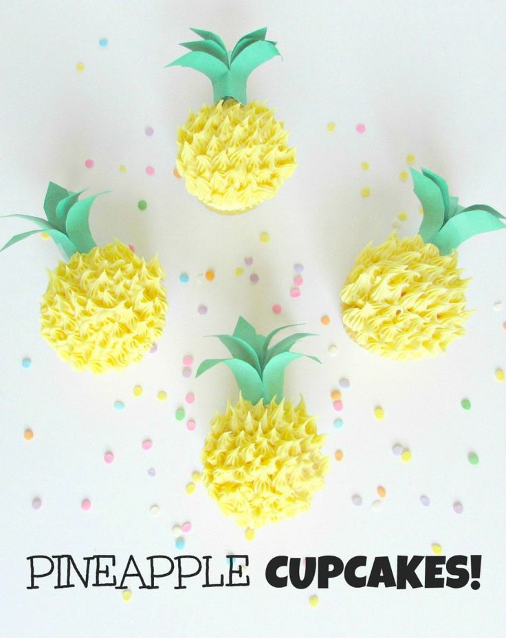 pineapple cupcakes, cupcakes that look like pineapples pineapple shaped cupcakes