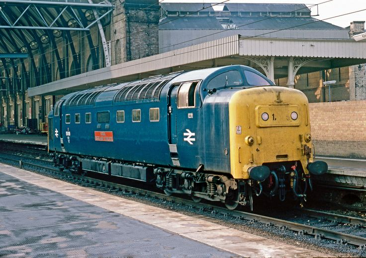 55019 'Royal Highland Fusilier' at Kings Cross on 14th Oct 1980.