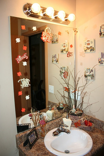 Thanksgiving Bathroom Idea: Remind Yourself Every Day What Youu0027re Thankful  For!