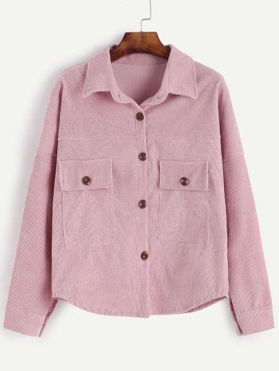 Jupe en velours côtelé - rose