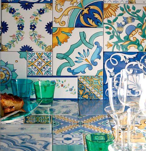 Ceramiche de maio vietri ceramiche maioliche mosaici for Maioliche cucina