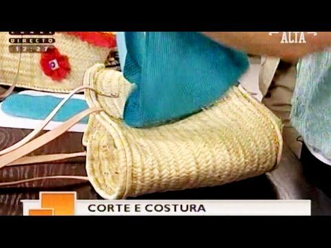 Forrar cestas de palha - Costura com Riera Alta
