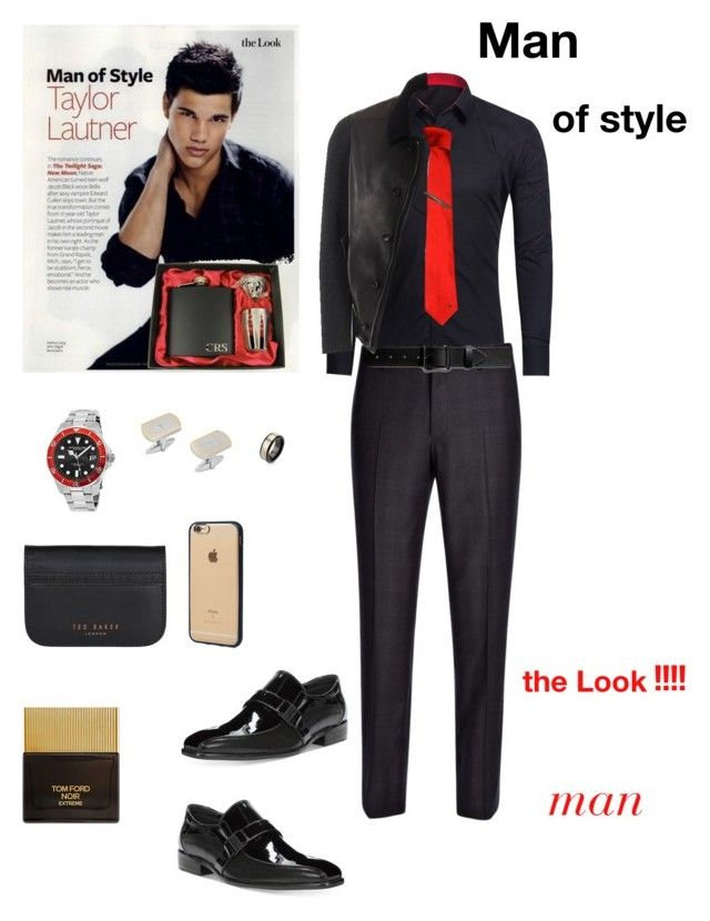 """Untitled #578"" by lianatzelese on Polyvore featuring Joseph, Versace, Shinola, Stührling, Kenneth Cole Reaction, Gucci, West Coast Jewelry, Ted Baker, Incase and Tom Ford"
