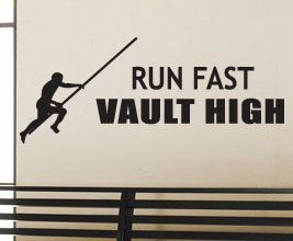 """run fast, jump high, safety third"""