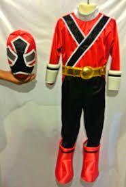 disfraz power ranger samurai rojo