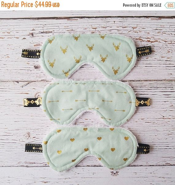 Sleeping in a new place can be hard, so why not make it easy with a gorgeous, soft and comfy sleep mask from Three Schatze? college dorm accessories, sleep mask, shabby chic, back to school