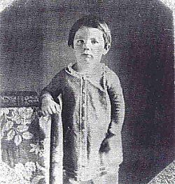 """Eddie, Abe's second son. Died just shy of his fourth birthday in 1850.  Cause of death: """"chronic consumption"""""""