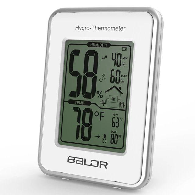 2016 Baldr жк датчик цифровой термометр гигрометр метеостанция влажность и контроля температуры мода стол декор