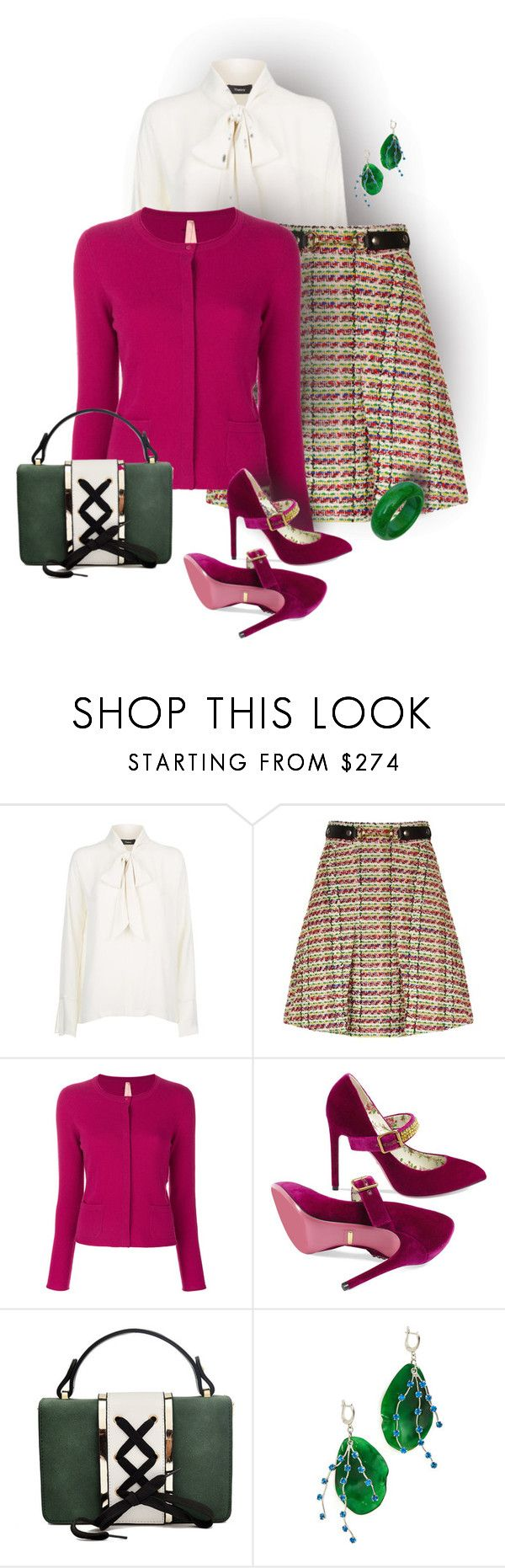 """""""Cardigan"""" by ana-kreb ❤ liked on Polyvore featuring Gucci, MARC CAIN and Marni"""