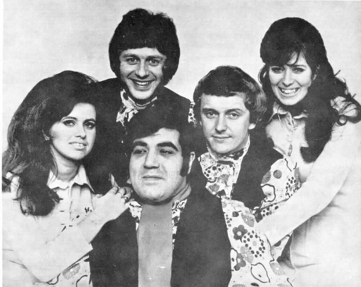 Brotherhood Of Man, Roger Greenaway, Tony Burrows, Johnny Goodison, Sunny Leslie and Sue Glover.