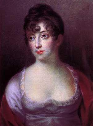 Christian 8. giftede sig i 1806 med sin kusine Charlotte Frederikke, men deres ægteskab blev aldrig lykkeligt. Charlotte Frederikke · Maleri af H.C. Vantore · Frederiksborgmuseet