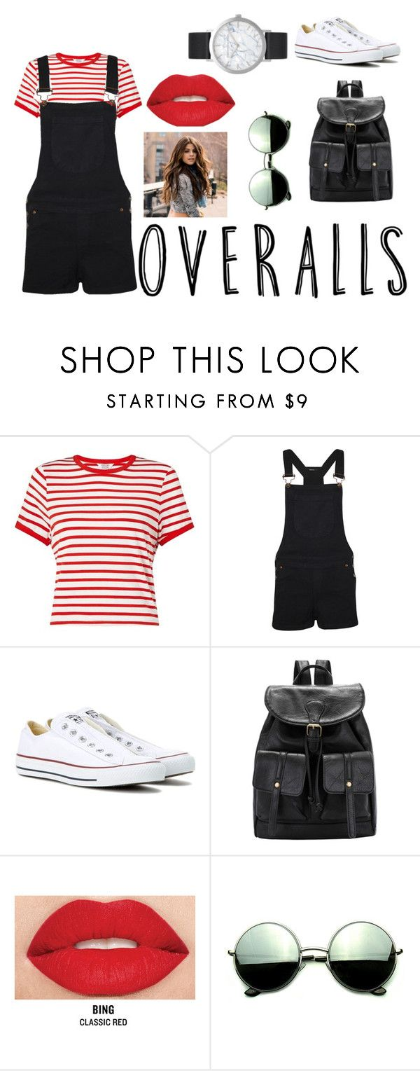 """""""Tricky Trend: Overalls"""" by lilyrose2000 on Polyvore featuring Miss Selfridge, WearAll, Converse, Smashbox, Revo, Elwood, TrickyTrend and overalls"""