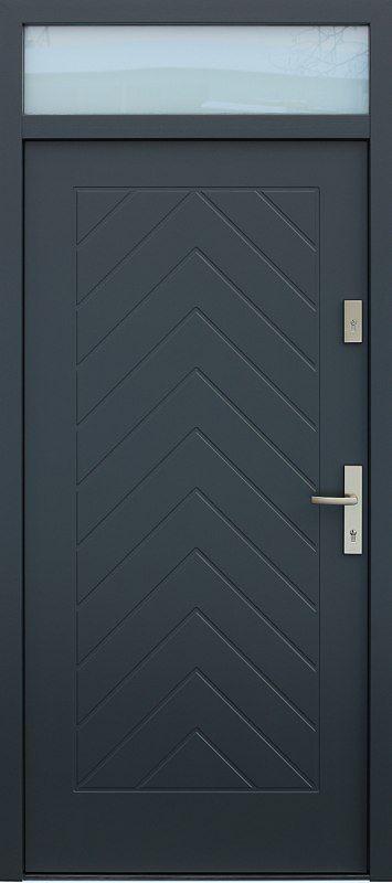 Drzwi z naświetlem górnym wzór 543,2 w kolorze antracyt.