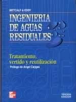 Ingeniería de aguas residuales : tratamiento, vertido y reutilización / Metcalf & Eddy, Inc. ; revisado por George Tchobanoglous, Franklin L. Burton