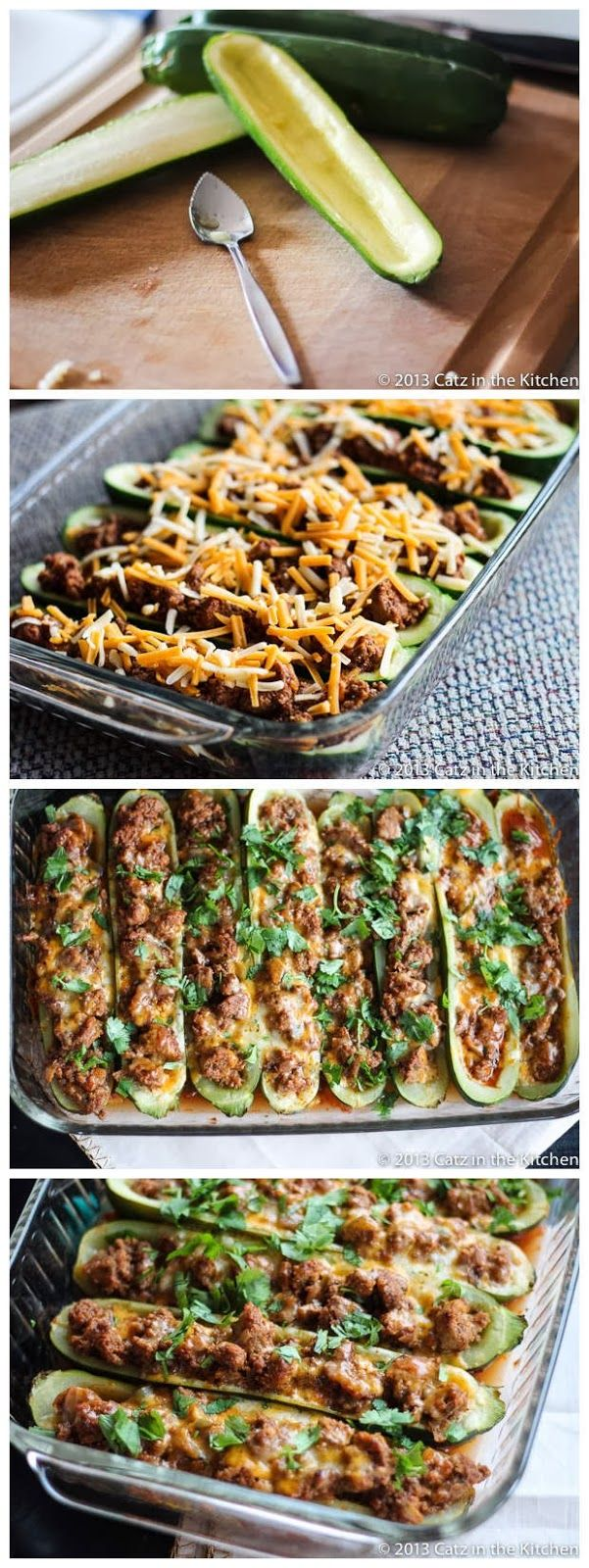 Taco Stuffed Zucchini Boats - Sweetfinders