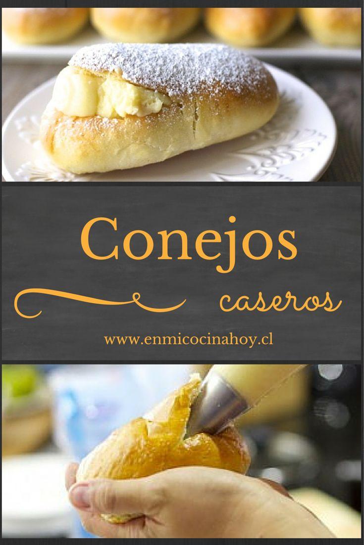 Los conejos con crema pastelera son un pastel tradicional chileno.