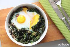 Sonntagsfrühstück für die Mitochondrien: Spinat mit Ei überbacken