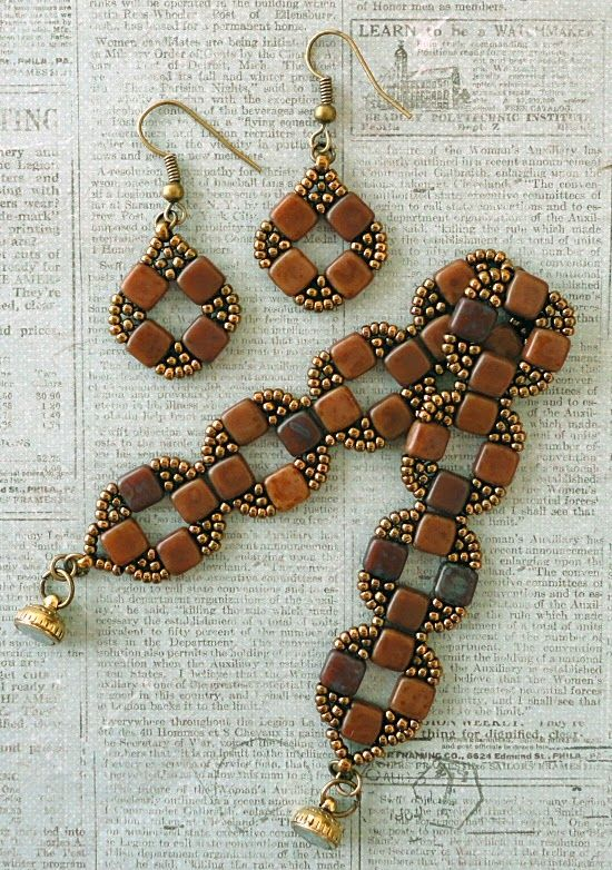 Linda's Crafty Inspirations: Bracelet of the Day: Coin Bands - Caramel