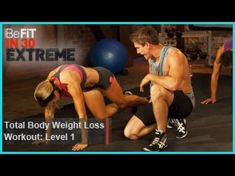 ▶ Total Body Weight Loss Workout Level 1 (Calisthenics) | BeFit in 30 Extreme - YouTube