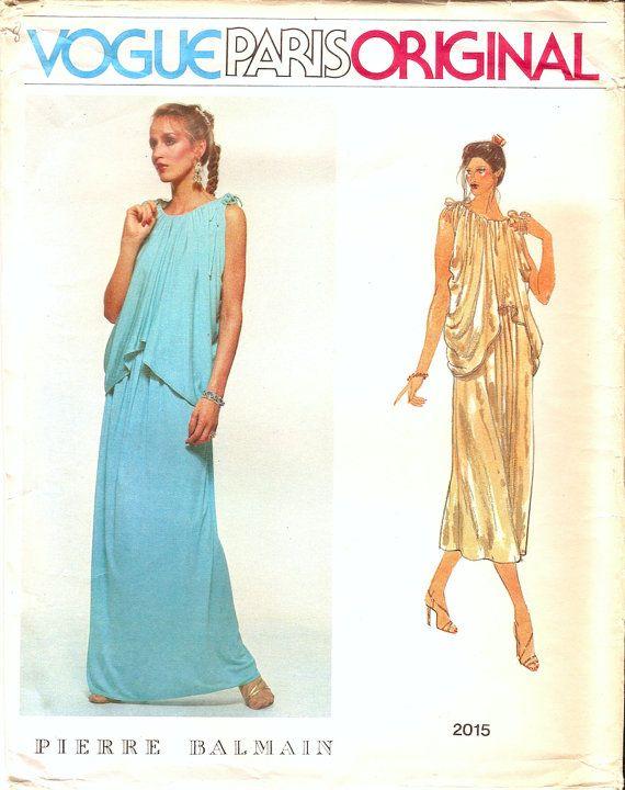 Vogue designer pierre balmain dress in 2 length pattern 2015 sz16 ...