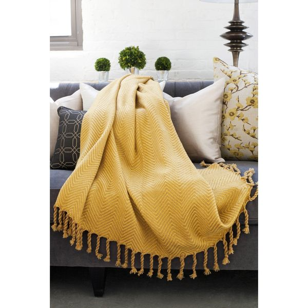 Sophia Herringbone Throw - Overstock™ Shopping - Great Deals on Throws