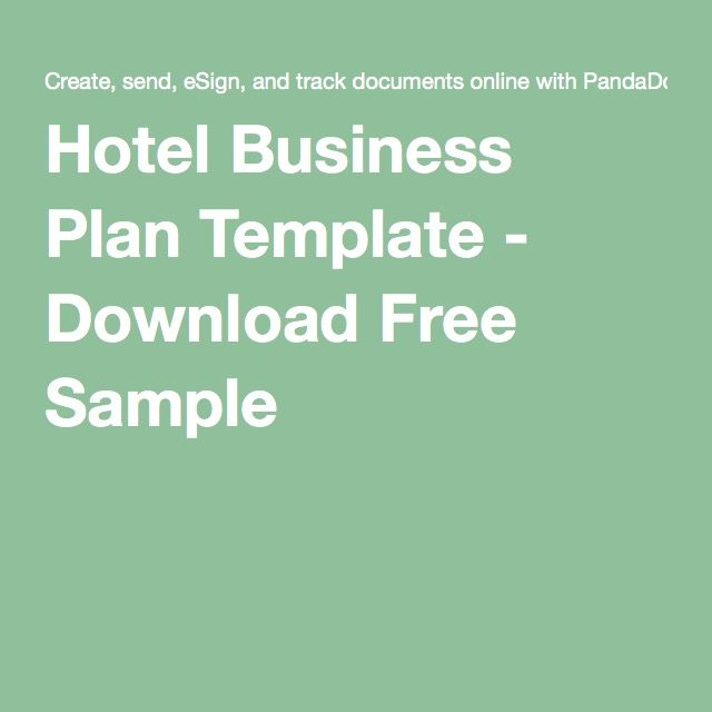 Hotel Business Plan Template - Download Free Sample Hotéis - hotel business plan template