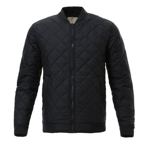 Majeclo Men's Premium Quilted Lightweight Bomber Jacket (XX-Large, 012ABlack)