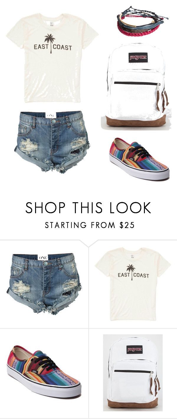 """""""Last Day of School Outfit"""" by arieleuvia on Polyvore featuring One Teaspoon, Billabong, Vans, JanSport and Pura Vida"""