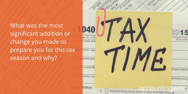 What was the most significant addition or change you made to prepare you for this tax season & why? #taxes