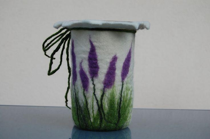 """Windlicht """"Lavendel"""" von wichtela auf DaWanda.com"""