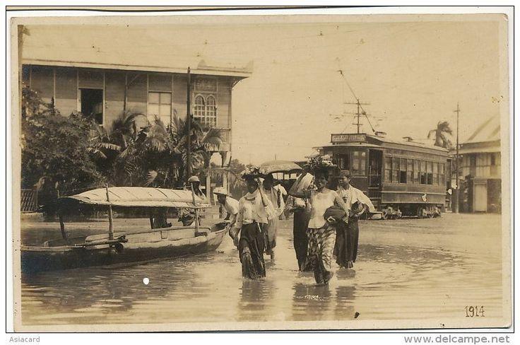 Flooded Santa Ana, Manila. 1914