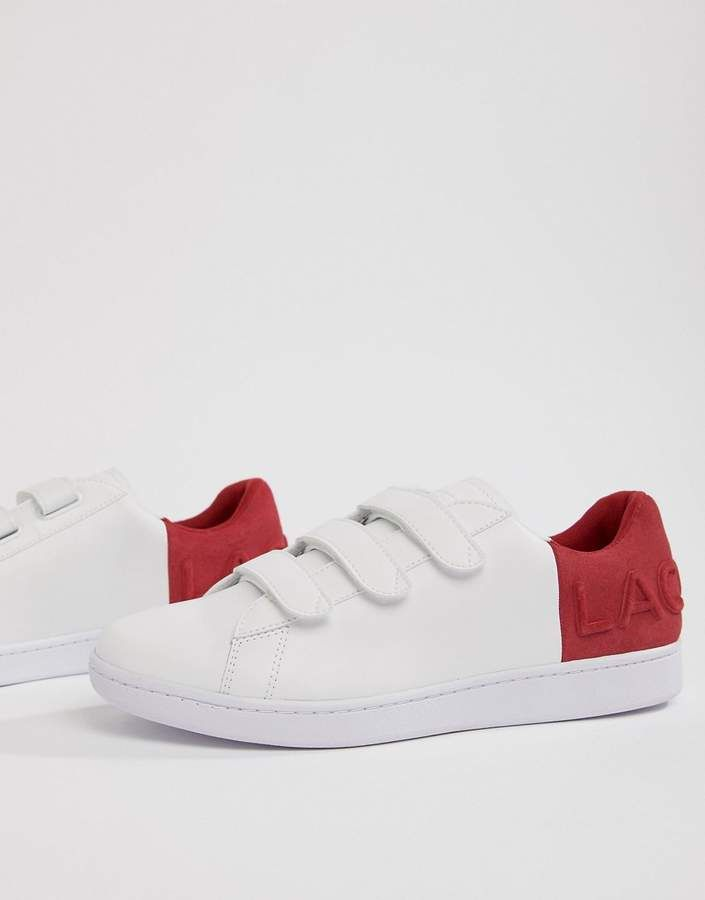36e405375bfc41 NOTHING BEATS A FRESH PAIR O SNEAKERS - Check them out now - Lacoste  Carnaby Evo strap 318 1 sneakers in white with red  lacoste  sneakers   sneakerhead   ...