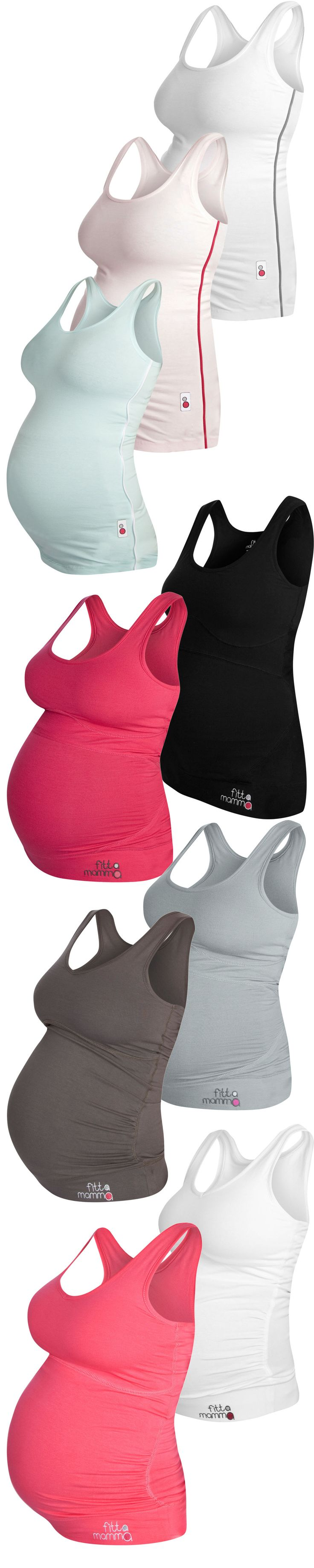 Gorgeous maternity workout clothes Designed to look fantastic and support your bump, our tops are super-stretchy. Choose one now, it will look good after baby is born too! Check out the website to see more maternity activewear, mix and match across the range for your workout wardrobe. Pair with our supportive leggings or capis for exercise or simply enjoy relaxing in comfort.