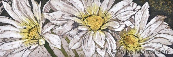 """Pure & Simple (portion) 24x8"""" ©Paige Mortensen Watercolour Batik"""