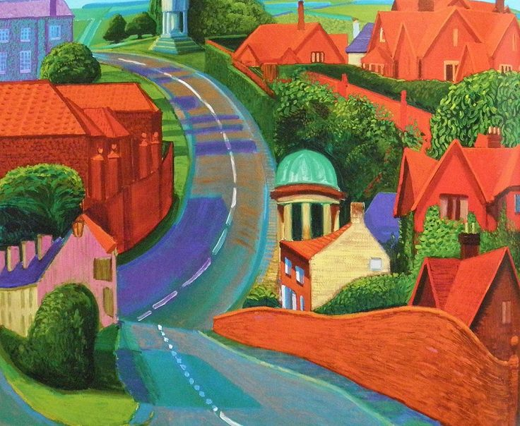 David Hockney | The Road to York through Sledmere, 1997