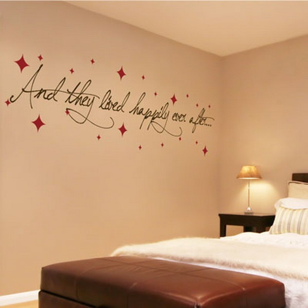 Master Bedroom Decorating Ideas with Wall Decals Wedding Quotation Picture