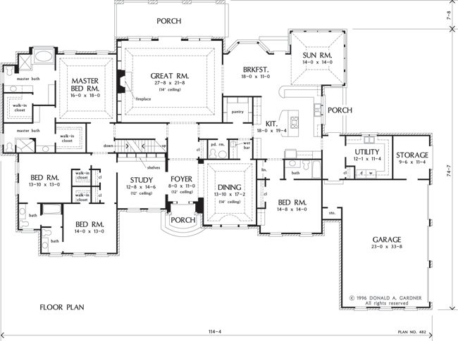 Exceptionnel The Avery House Plan Images   See Photos Of Don Gardner House Plans