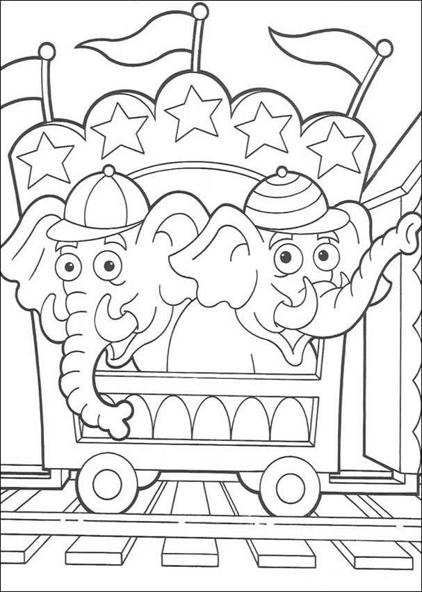 preschool circus coloring pages - photo#33